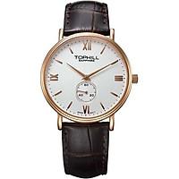 Đồng hồ nam dây da chính hãng Thụy Sĩ TOPHILL TA021G.PZ3297