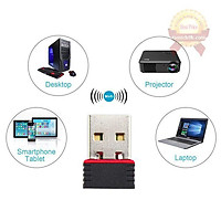USB thu sóng wifi 802.11 NANO Không Anten cho pc laptop điện thoại tốc độ 150Mbps