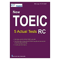 New Toeic: 5 Actual Tests - RC