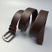[Da thật] Thắt lưng da bò vân voi khóa kim bản 38mm BL112 (Đen/Nâu) - 100% da bò thật
