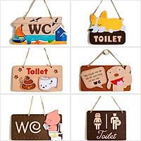Bảng decor trang trí treo nhà tắm toilet, wc