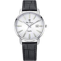 Đồng hồ nam dây da Olym Pianus OP130-03MS-GL trắng