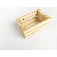 Khay gỗ pallet mini trang trí - kệ gỗ đa năng (màu gỗ tự nhiên, 15x10x7cm)