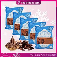 Combo 5 Gói Bột Làm Kem Tươi ThucPham.Com Vị Chocolate- Túi 1kg - Được Chứng Nhận HTQL An Toàn Thực Phẩm ISO 22000:2018