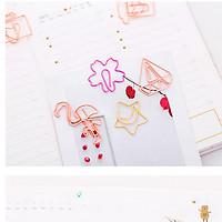 Bookmark ghim kẹp màu hồng nhiều mẫu (giao ngẫu nhiên