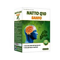 Natto Q10 Sanfo - tăng cường tuần hoàn máu não, giảm đau đầu, hoa mắt, chóng mặt