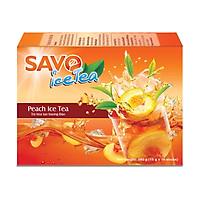 Trà SAVO Ice Tea Đào (Peach Ice Tea) - Hộp 16 gói x 15g