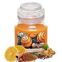 Hũ nến thơm tinh dầu Batek Christmas Orange 130g QT06653 - cam, quế, đinh hương