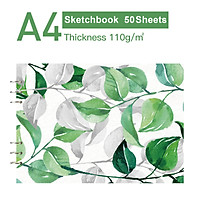 50 Sheets Loose-Leaf Sketchbook Professional A4 Art Painting Sketch Paper 8.2x11.4 Inch for Drawing Journaling Sketching