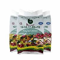 Phân bón Better xanh 12-12-17 1kg/gói - COMBO 3 gói | Chuyên dùng cây ăn trái, bonsai trồng chậu