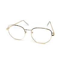 Mắt kính thời trang chống bụi gọng sắt đa giác K021 unisex nam nữ style giả cận, phong cách tri thức, lịch sự
