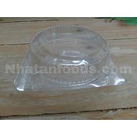 Hộp nhựa tròn nắp gập 10 cái ( có 3 size ).