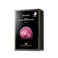 Hộp 10 Mặt Nạ Dưỡng Sáng Da JM Solution Active Pink Snail Brightening Mask Prime 30ml