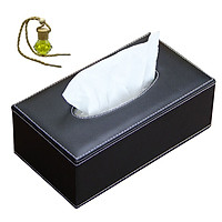 Hộp đựng khăn giấy bọc da sang trọng 06 - Tặng 1 tinh dầu Sả treo dây