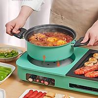 Bếp lẩu nướng 2 mâm nhiệt NSh DK-303 tích hợp vừa nướng vừa lẩu có 2 nút diều khiển riêng biệt