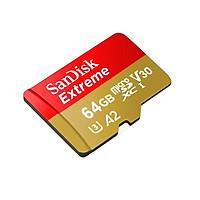 Thẻ Nhớ MicroSDXC SanDisk Extreme 64GB V30 U3 4K A2 đọc 160MB/s ghi 60MB/s - Box mới (Vàng) Hàng Chính Hàng