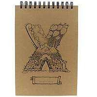 Sổ Lò Xo Sketchbook Alphabet - Mẫu 18 - Chữ X