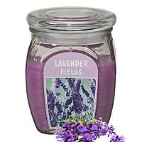 Hũ nến thơm tinh dầu Bolsius Lavender Fields 305g QT024366 - cánh đồng oải hương