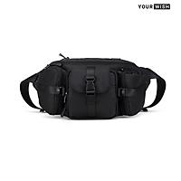 Túi Đeo Chéo Bao Tử Nam Chống Nước Cao Cấp Thời Trang Basic Túi Đeo Bụng Ngực Đơn Giản Năng Động TD312 Yourwish Ngăn Lớn Rộng