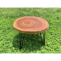 Bàn cà phê, bàn sofa gỗ xà cừ nguyên tấm 45-50cm, dày 3-3,5cm, cao 40 cm