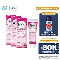 Combo 3 Kem Tẩy Lông Cho Da Thường Veet Silk Fresh 25G