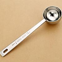 Stainless Steel Thick Measuring Long Handle Coffee Milk Powder Ice Cream Spoon 15ml