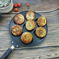 Chảo nướng bánh, chiên trứng 7 ô họa tiết