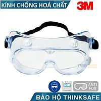 Kính chống hóa chất 3M 334 kính chống văng bắn hoá chất và bụi, chống tia UV, có lỗ thông khí, chống đọng sương