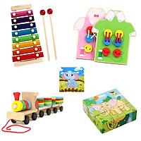 Combo 4 món đồ chơi kích thích khả năng sáng tạo cho bé - tặng miếng ghép hình chú voi