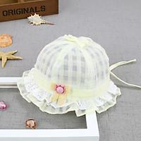 Nón mũ cho bé gái mùa hè dễ thương size bé 3m đến 1 tuổi