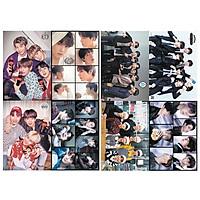 Poster ban nhạc BTS 8 tấm có dán