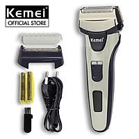 Máy cạo râu Kemei KM-1611 không dây chuyên nghiệp 2 lưỡi kép tiện lợi kèm theo bộ lưỡi kép và nắp bảo vệ thay thế