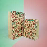 Túi giấy Kraft Noel đựng quà [COMBO 10 cái] Mã XMAS02