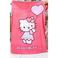 Mền lông tuyết Hello Kitty (hồng ) 1m5x2m