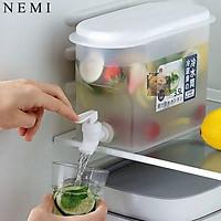Bình Đựng Nước Để Tủ Lạnh Có Vòi Trong Suốt Tiện Dụng NEMI