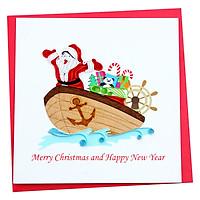 Thiệp Giấy Xoắn Noel Việt Net VN1XM115113E1