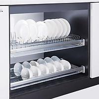 Giá để bát đĩa inox 304 trong tủ bếp
