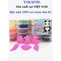 Bột nặn an toàn TAKACOL 10 hộp màu tặng 6 khuôn chơi kèm
