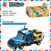 Bộ Đồ Chơi Xếp Hình Thông Minh Lego Qman 329 Mảnh Ghép Xe Ô Tô Đầu Kéo 1809 Cho Bé Từ 6 Tuổi 8 Trong 1