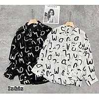 áo sơ mi nữ dài tay chữ ký chất đũi lụa 2 màu
