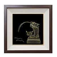 Tranh Cá chép hóa rồng mạ vàng - Quà tặng phong thủy cao cấp