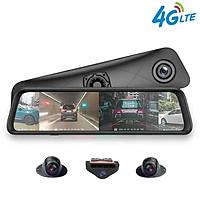 Camera hành trình 360 độ gương ô tô cao cấp K960 5 trong 1 gồm Camera hành trình 360 độ, camera giam sát, thiết bị Android giải trí, thiết bị kết nối internet