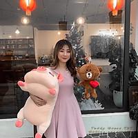 Gấu bông heo con ngủ đáng yêu - Màu hồng dễ thương