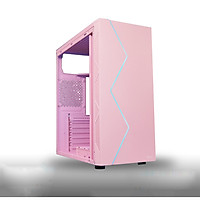 Vỏ Case Máy Tính VSP V3-603P Pink  (Màu Hồng) - Hàng Chính Hãng
