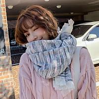 Khăn Len Dày Choàng Cổ Nữ Màu Cầu Vòng Đẹp Ulzang Giữ Ấm Mùa Lạnh - Mã KLN11