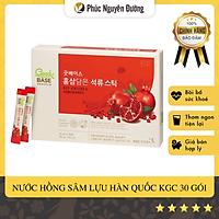 Nước Hồng sâm & Lựu đỏ Good BASE (10ml * 30 gói) KGC Cheong Kwan Jang Hàn Quốc - Tốt cho tim mạch; Làm đẹp da, tái tạo da hư tổn.