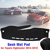 Car Dashboard Cover Mat Carpet Protective Pad for Toyota Highlander 2014-2018