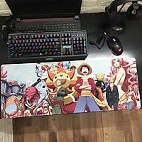 Miếng Lót Chuột, Bàn Di Chuột, mouse pad anime One Piece cỡ lớn (80x30x0.3)