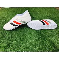 Giày đá banh,giày đá bóng sân cỏ nhân tạo đã khâu đế 3 sọc màu trắng