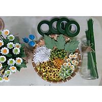 Set full nguyên liệu đầy đủ làm 50 bông cúc Tana bằng giấy cắt sẵn (Tặng kèm keo)